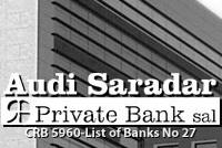 AUDI SARADAR PRIVATE BANK S.A.L.