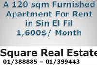 A 120 Sqm Furnished Apartment For Rent In Sin El Fil