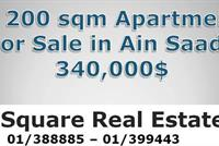 A 200 Sqm Apartment For Sale In Ain Saade
